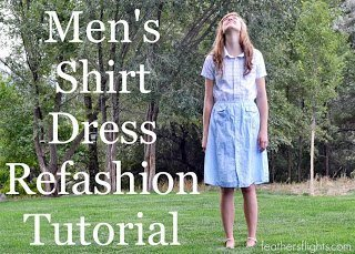 Me Made: Refashioned Shirt Dress