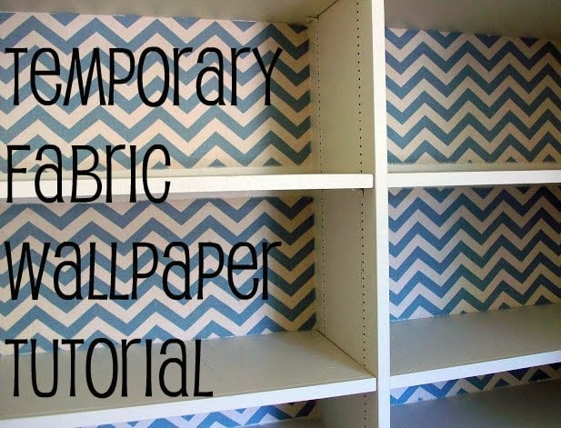 Temporary Fabric Wallpaper Tutorial