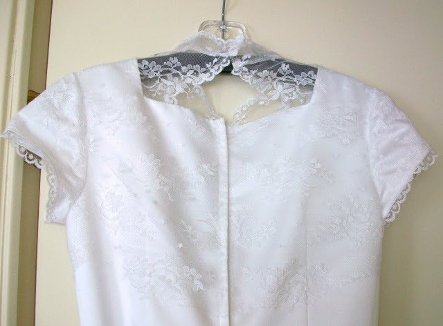 Wedding Dress Alteration: Attached Lace Jacket Addition