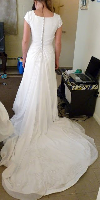 Wedding Dress Alteration Before: Adding a Godet