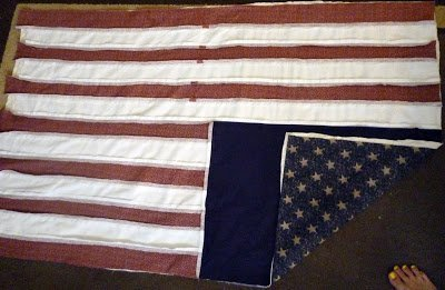 FREE PATTERN: USA Flag Rag Quilt