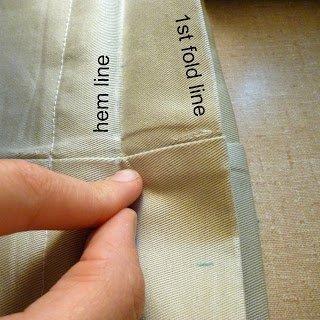 fold on the hem line