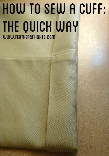 How To Sew or Mend A Cuff Tutorial: The Quick Way