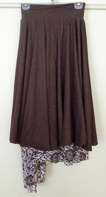 Reversible Skirt With Knit Waistband Tutorial