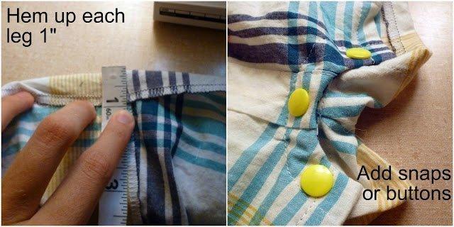 FREE PATTERN: Man's Shirt Baby Romper