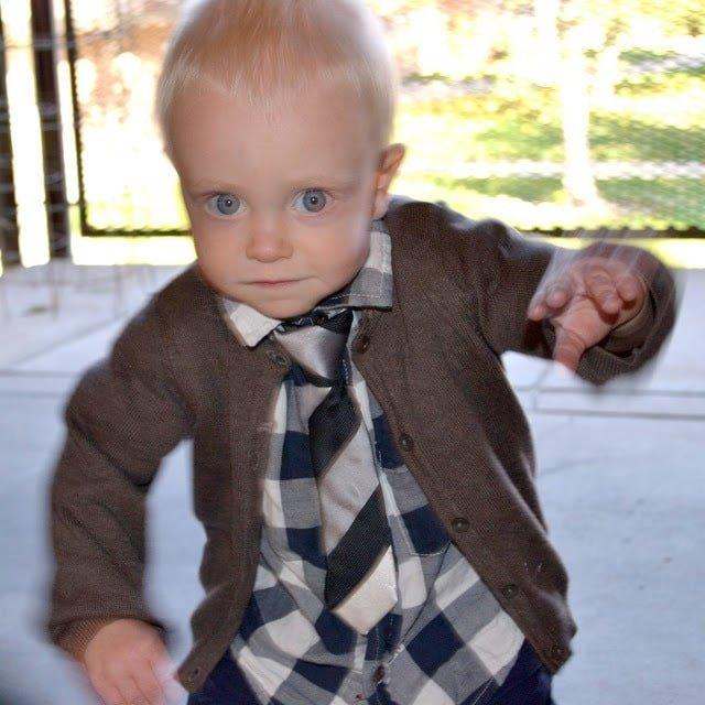 The EASIEST Little Boy Tie Tutorial