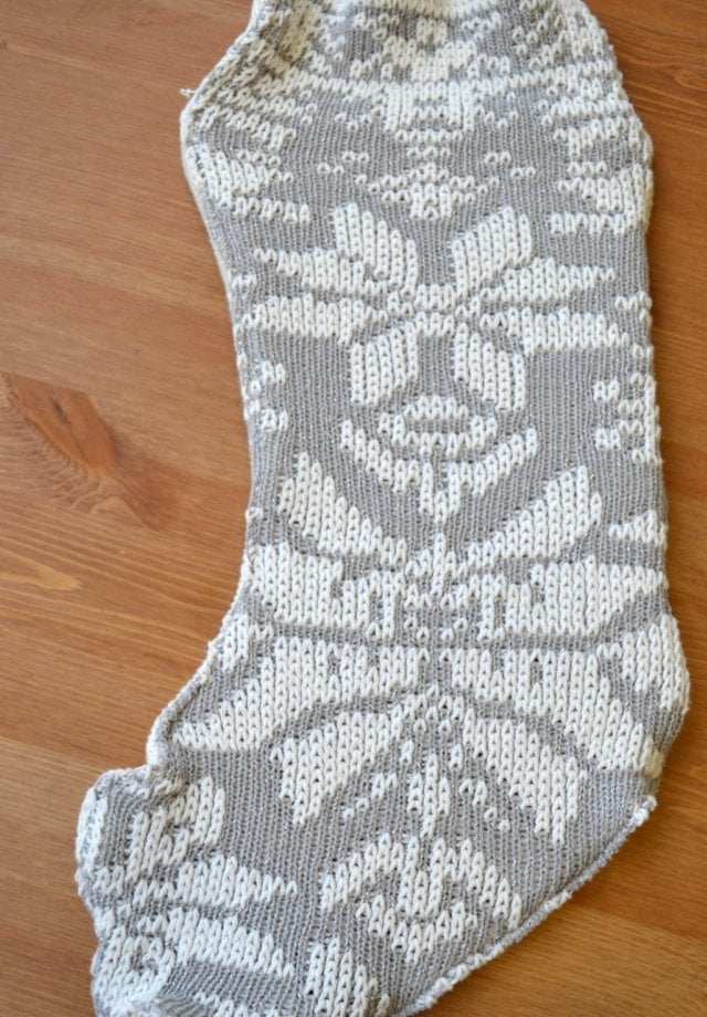 DIY Sweater Stockings
