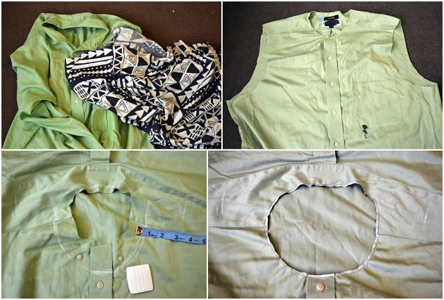 Anthropologie's Conductor Top Knock Off Tutorial: A Man's Shirt Refashion