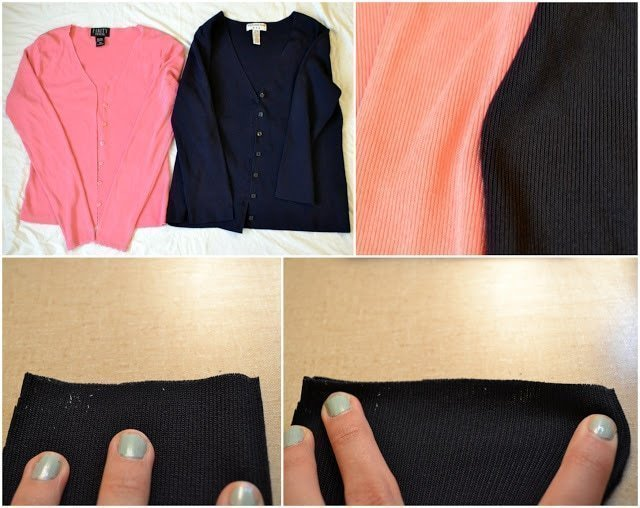 Tutorial: Color Blocked Cardigan For Stretch Yourself