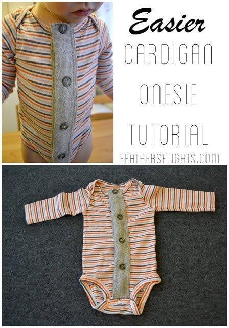 Easier Cardigan Onesie Tutorial