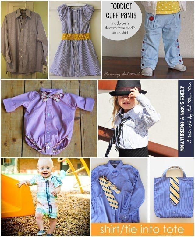 11 Men's Button-Up Shirt Refashion Tutorials