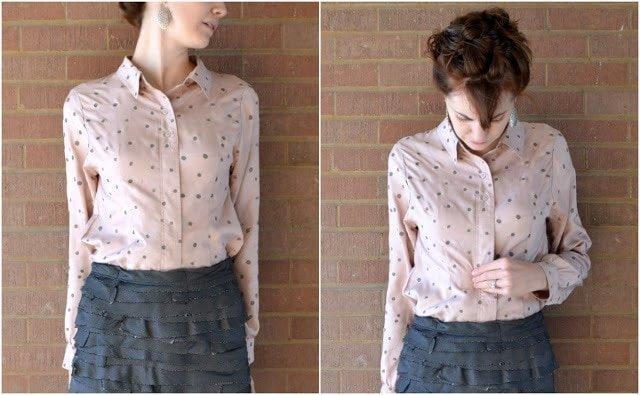 Refashioned Polka Dot Shirt