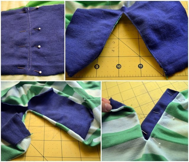 Asymmetrical Henley and Contrast Facing Placket Tutorial