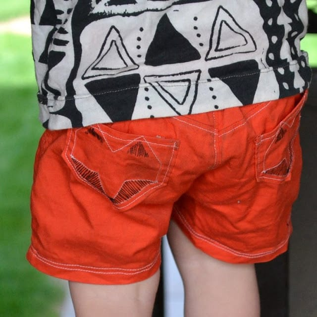 Aztec Henley and Red Shorts: Boys 2013 Spring/Summer Line