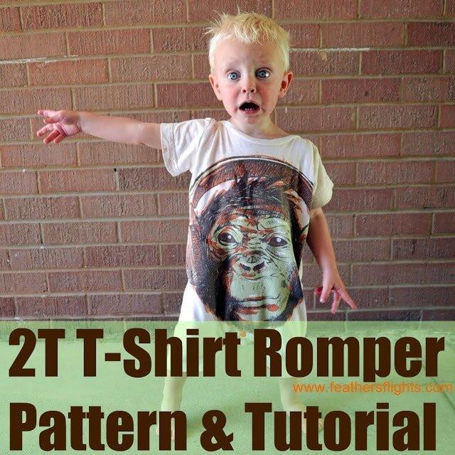 2T T-Shirt Romper