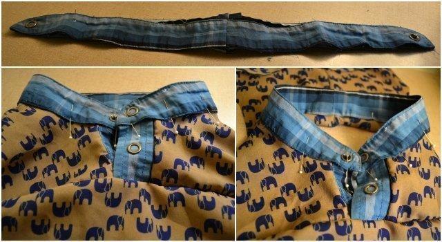 Boys Henley Tutorial: Men's Shirt Upcycle
