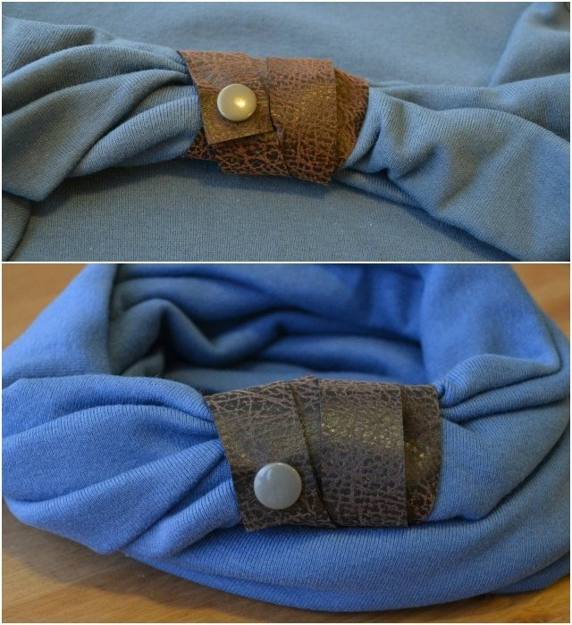 Leather Wrapped Infinity Scarf Tutorial with Pattern Anthology