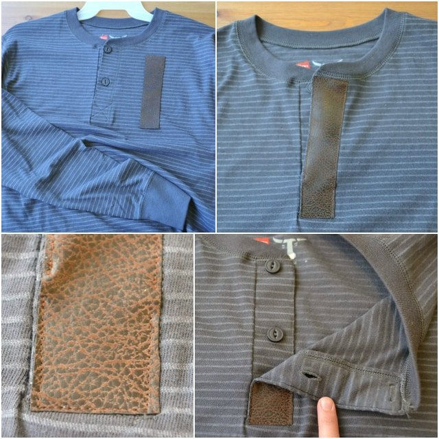 DIY Leather Trim Men's Tee