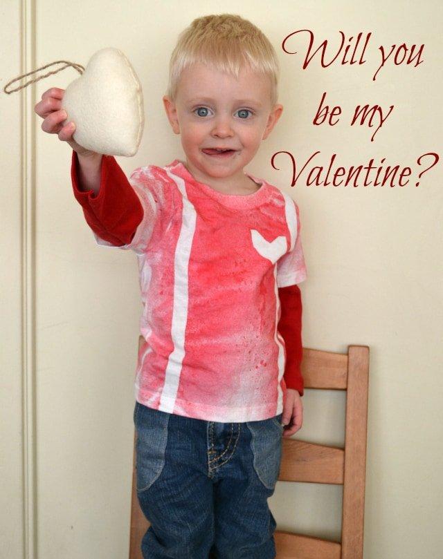 Quick DIY Boy's Valentine Tee