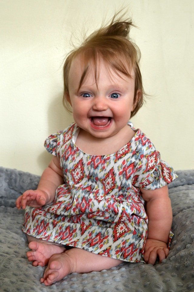 DIY Ikat Baby Dress and Bloomers