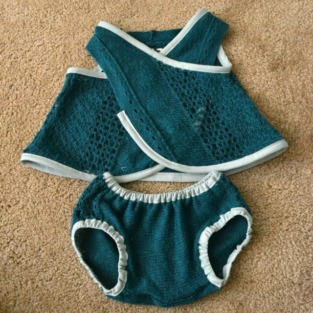 DIY Sweater Pinafore and Diaper Cover