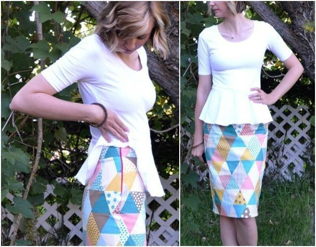 Me Made: Triangle Printed Pencil Skirt
