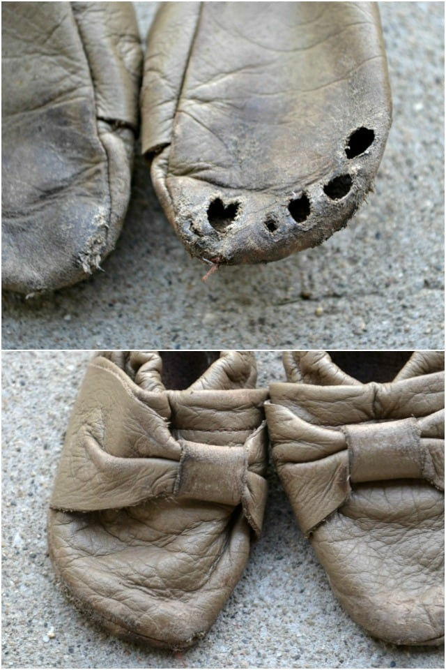 DIY Sew Leather Baby Bow Moccs: Growing Babies