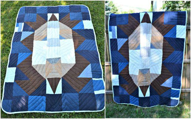 DIY Handmade Lion Quilt