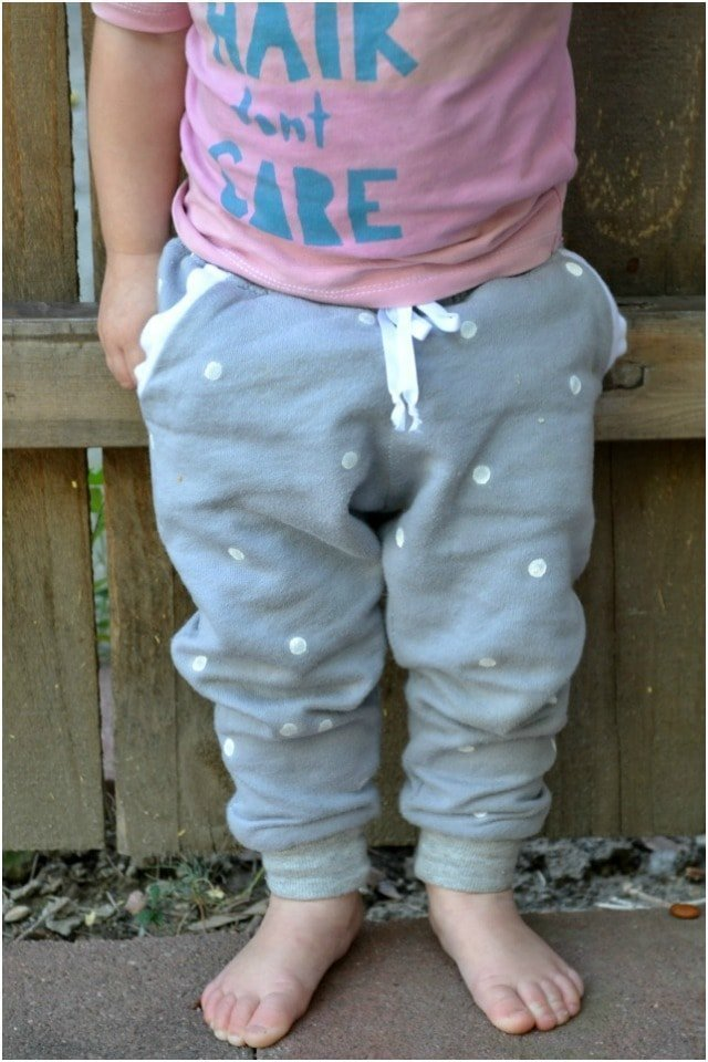Sewing for the Girl: Baby Polka Dot Joggers