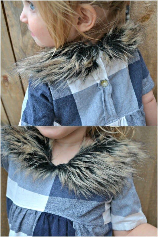 Sewing for the Girl: Buffalo Plaid and Fur Dress