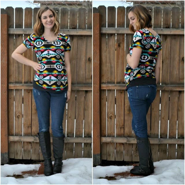 Me Made: Aztec Cara Maternity Tee