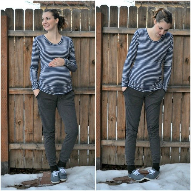 Me Made: Striped Cara Maternity Tee