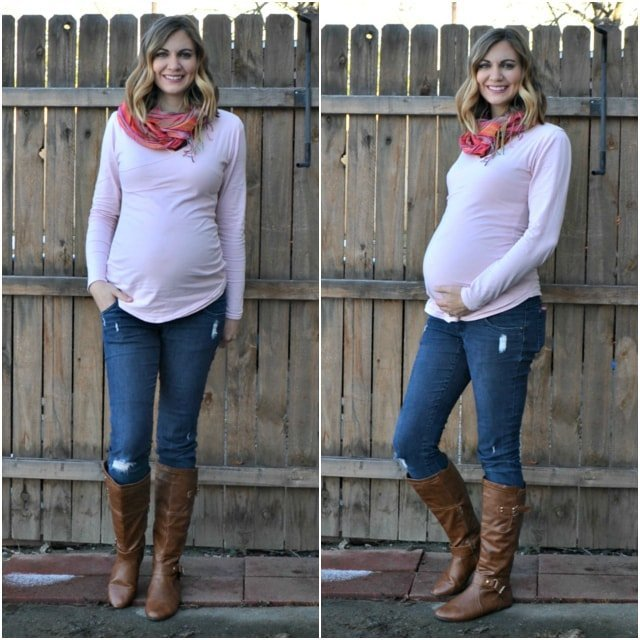 Crossover Maternity and Nursing Tee: Alissa Maternity Top and Cara Maternity Tshirt