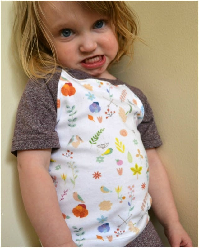 Fabric GIVEAWAY and Kids' Raglan Tees