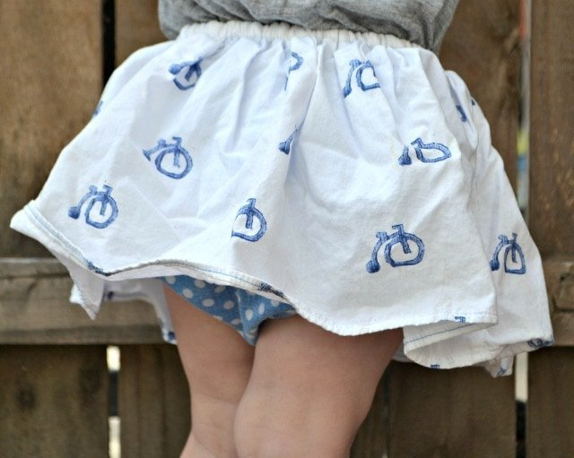 1 Fat Quarter Skirt Tutorial