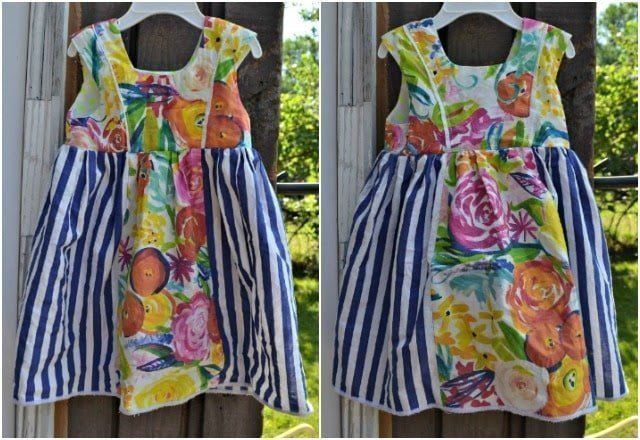 Sewing for the Girl: Striped and Floral Mori Dress