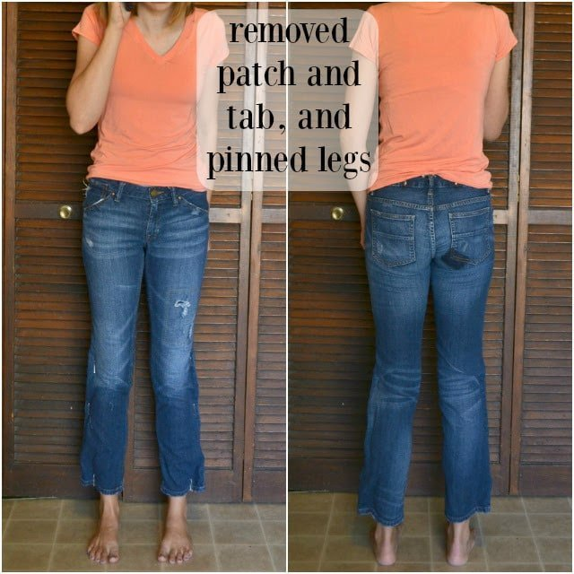 How to Alter Thrifted Jeans, DIY Tutorial
