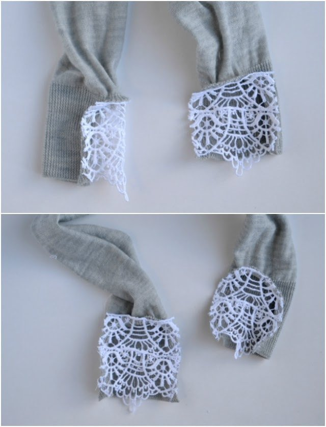 TUTORIAL: DIY Lace Sweater Cuffs