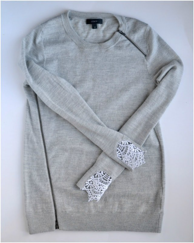 TUTORIAL: DIY Lace Sweater Cuffs