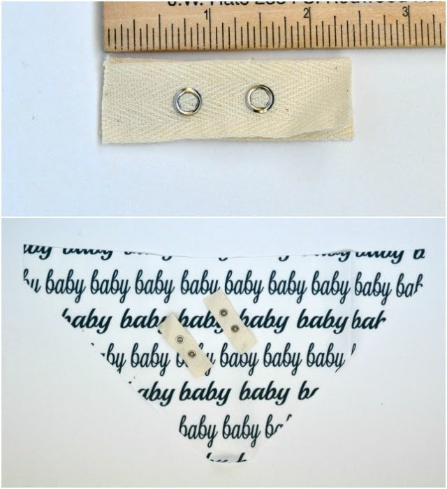 """BABY"" Snap Tape Bib: Free Pattern and Tutorial"