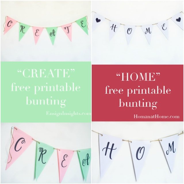 "Free Printable: ""FAMILY"" Banner"