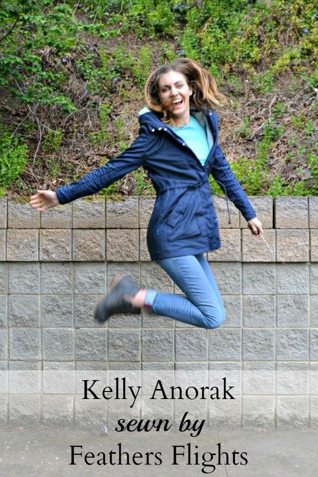 Navy Waterproof Kelly Anorak // heatherhandmade.com