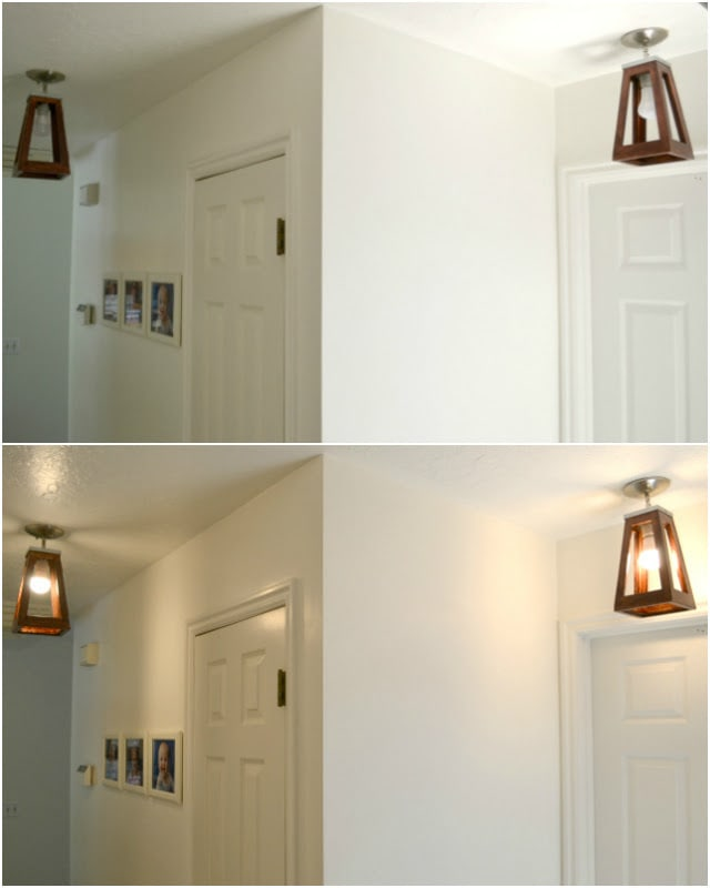 How to Turn A Lantern into a Light Fixture