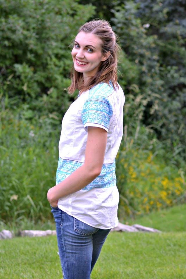 Me Made: Embroidered Marigold Peplum Pattern