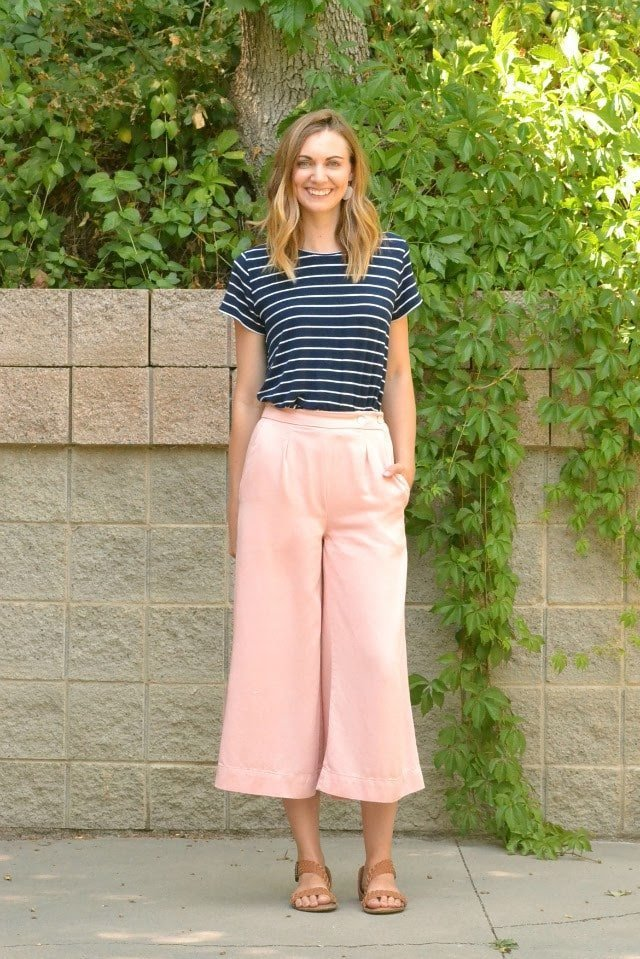 Me Made: DIY Pink Tencel Flint Pants // Sew