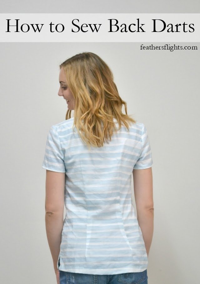 0454d40e How to Sew Back Darts • Heather Handmade