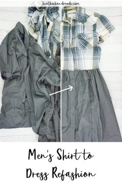 DIY Men's Shirt to Dress Refashion Tutorial