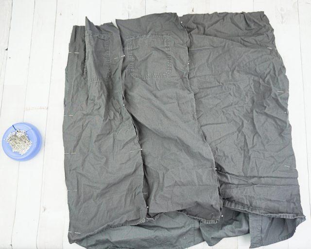 sew rectangles into tube