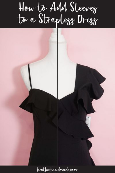 How to Add Sleeves to a Strapless Dress