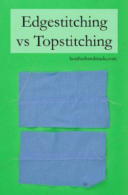 Edgestitching vs Topstitching // heatherhandmade.com